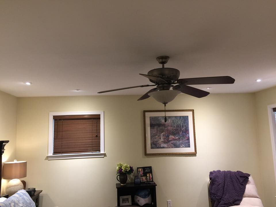 Mohnton Electrical Fan and Recessed Lighting installation